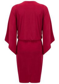 MISA Los Angeles Teget Bell Long Sleeve Twist Dress - Red