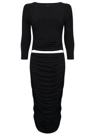 KAMALI KULTURE Long Sleeve Teaser Dress - Black