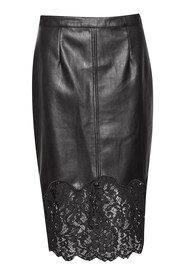 Great Plains Chicago Lace Trim Skirt - True Black