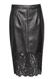 Great Plains Chicago Lace Trim Skirt - True Black