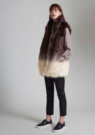 Great Plains Mimi Faux Fur Gilet - Ombre