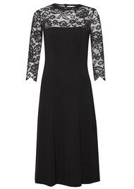 Great Plains Georgia Lace Open Back Dress - Black