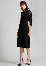 Great Plains Georgia Lace Open Back Dress - Black