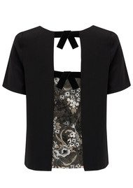 COOPER AND ELLA Coco Lace Tee - Black