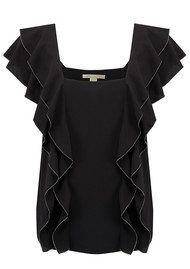 COOPER AND ELLA Pico Stitch Lily Top - Black