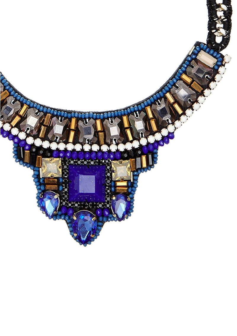 Butterfly Trendy Short Necklace Blue Amp Bronze