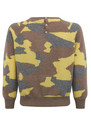 Camouflage Cashmere Jumper - Mushroom, Mid Grey & Lemon additional image
