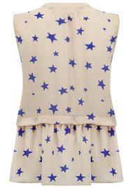 Pyrus Star Print Top - Star Pearl & Blue