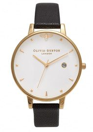 Olivia Burton Queen Bee Watch - Black & Gold