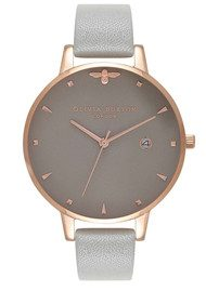 Olivia Burton Queen Bee Watch - Grey & Rose Gold