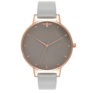 Queen Bee Watch - Grey & Rose Gold