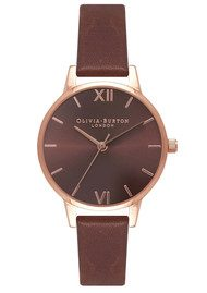 Olivia Burton Midi Dial Brown Dial Watch - Brown & Rose Gold