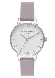 Olivia Burton Midi Dial White Dial Watch - Grey Lilac & Silver