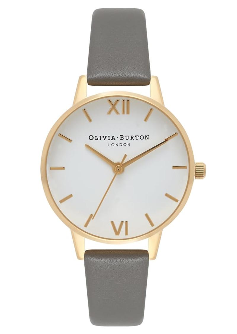 Olivia Burton Midi Dial White Dial - Dark Grey & Gold main image