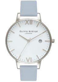 Olivia Burton Timeless White Face Watch - Chalk Blue & Silver