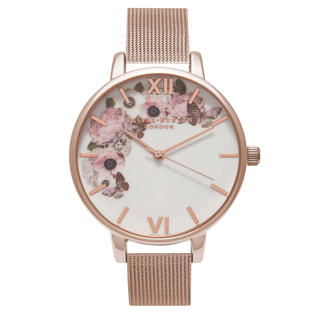 Winter Garden Mesh Watch - Rose Gold