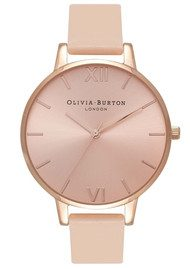 Olivia Burton Big Dial Watch - Nude Peach & Rose Gold