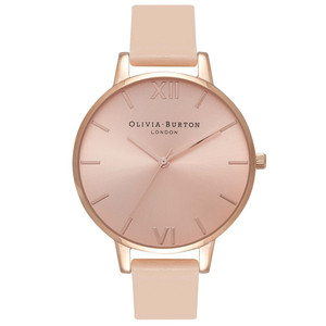 Big Dial Watch - Nude Peach & Rose Gold