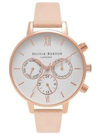 Olivia Burton Chrono Detail Watch - Nude Peach & Rose Gold