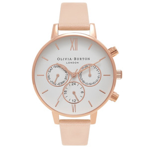 Chrono Detail Watch - Nude Peach & Rose Gold