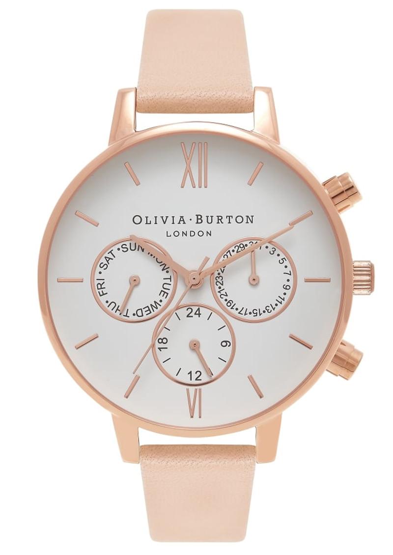 Olivia Burton Chrono Detail Watch - Nude Peach & Rose Gold main image
