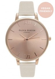Olivia Burton Big Dial Vegan Friendly Watch - Nude & Rose Gold