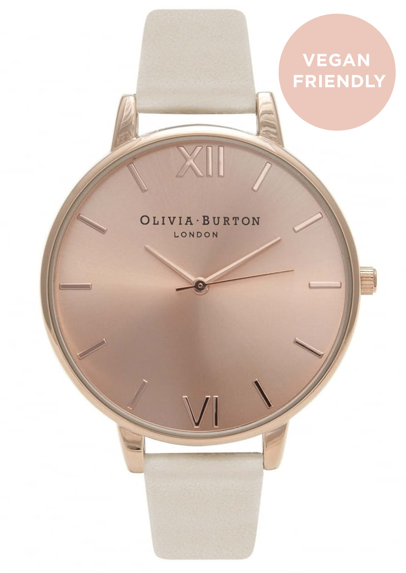 Olivia Burton Big Dial Vegan Friendly Watch - Nude & Rose Gold main image