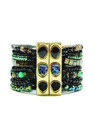 HIPANEMA Amazonia Bracelet - Gold, Black & Turquoise