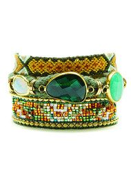 HIPANEMA Naishville Bracelet - Green & Gold
