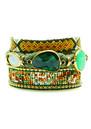 HIPANEMA Naishville Bracelet - Green & Gold