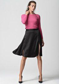 CUSTOMMADE Elma Flared Skirt - Anthracite Black