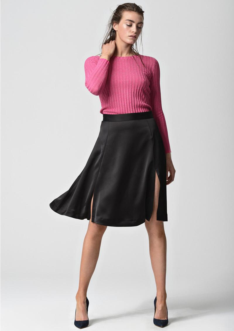 CUSTOMMADE Elma Flared Skirt - Anthracite Black main image
