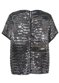 CUSTOMMADE Idacaroline Sequin Top - Anthracite Black