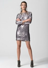 CUSTOMMADE Gisele Sequin Dress - Silver