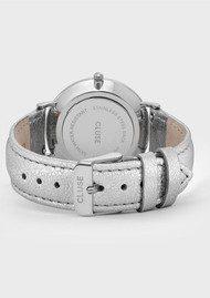 CLUSE La Boheme Metallic Watch - Silver & White