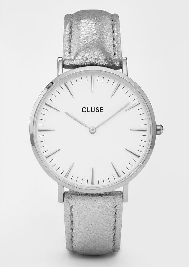 CLUSE La Boheme Metallic Watch - Silver & White main image