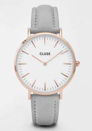 CLUSE La Boheme Rose Gold Watch - White & Grey