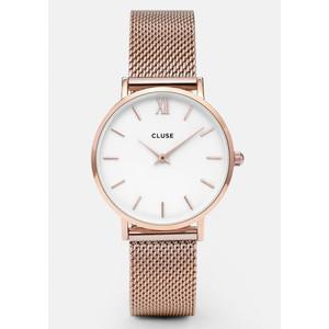 Minuit Mesh Watch - Rose Gold & White