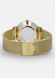 CLUSE Minuit Mesh Watch - Gold & White