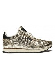 WODEN Ydun Metallic Trainers - Gold