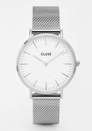 La Boheme Mesh Watch - Silver & White