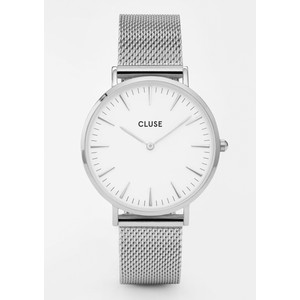 La Boheme Mesh Watch - Silver & White