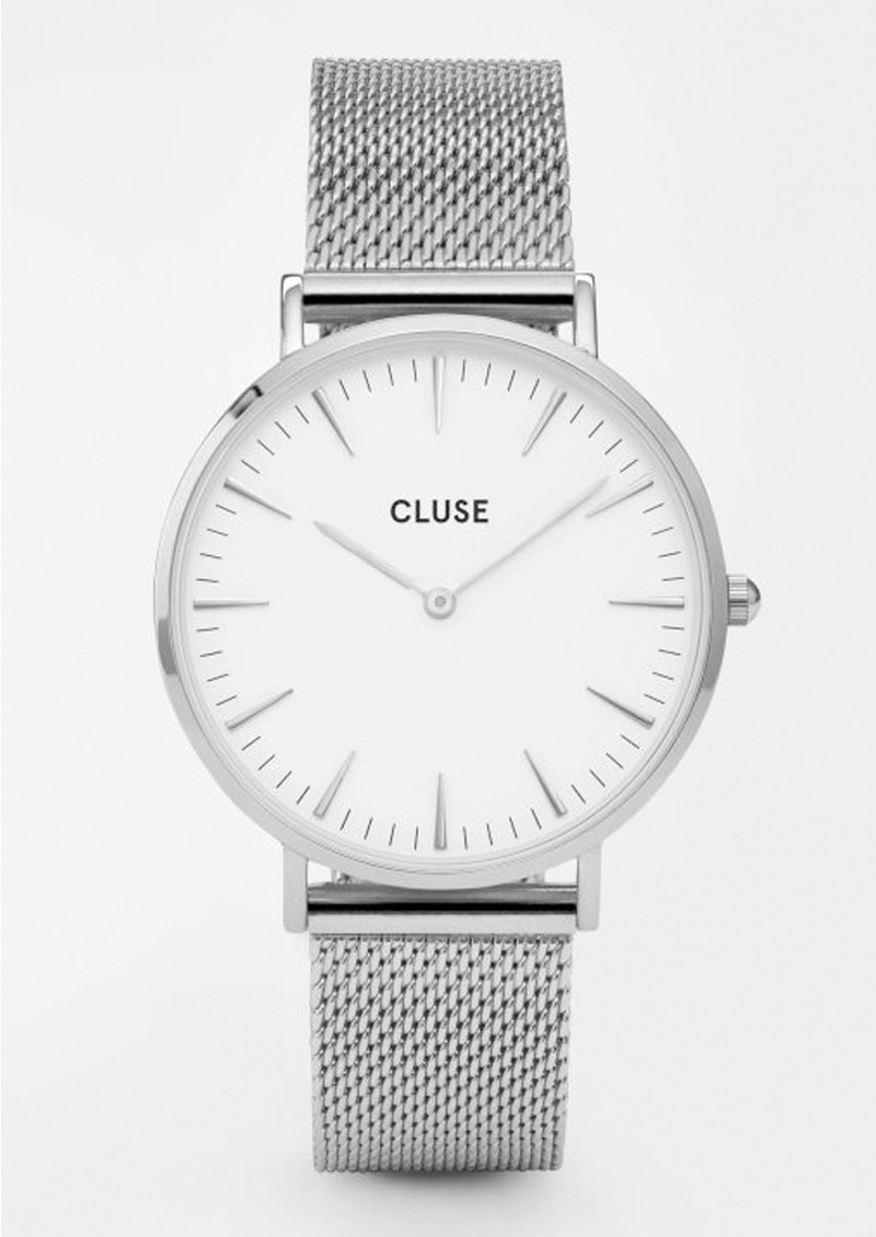 CLUSE La Boheme Mesh Watch - Silver & White main image