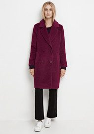 SAMSOE & SAMSOE Pompo Long Jacket - Dark Purple