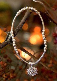 ChloBo Joyful Harmony Snowflake Bracelet - Silver