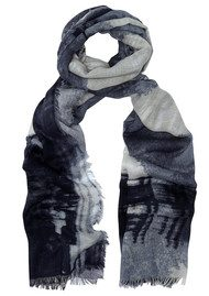 Lily and Lionel Kate Silk Blend London Scarf - Monochrome