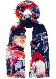 Lily and Lionel Becca Floral Silk Scarf - Multi
