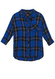 Rails Hunter Shirt - Cobalt & Tartan
