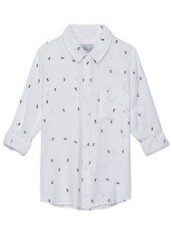 Rails Rocsi Arrow Long Sleeve Shirt - White & black