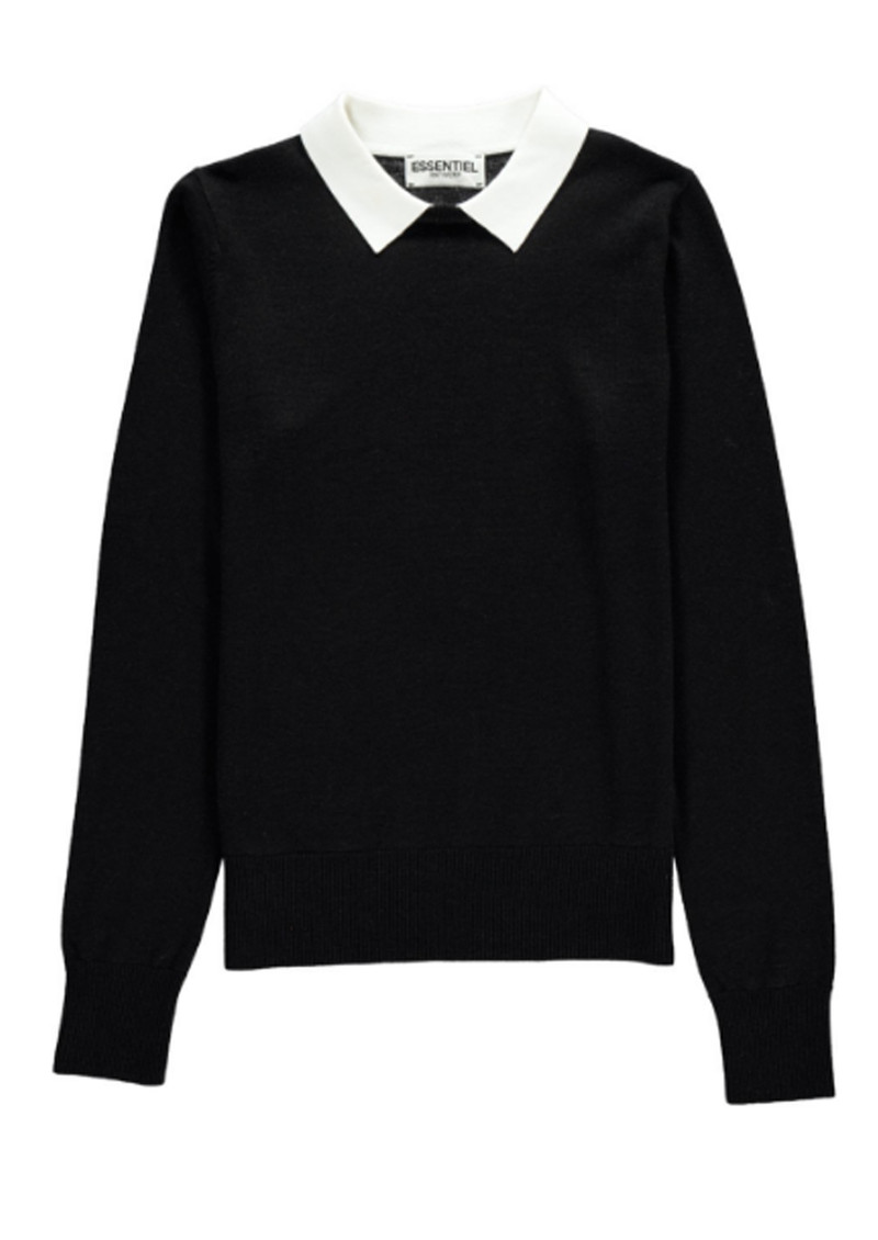 Essentiel Nagoya Collared Sweater - Black main image